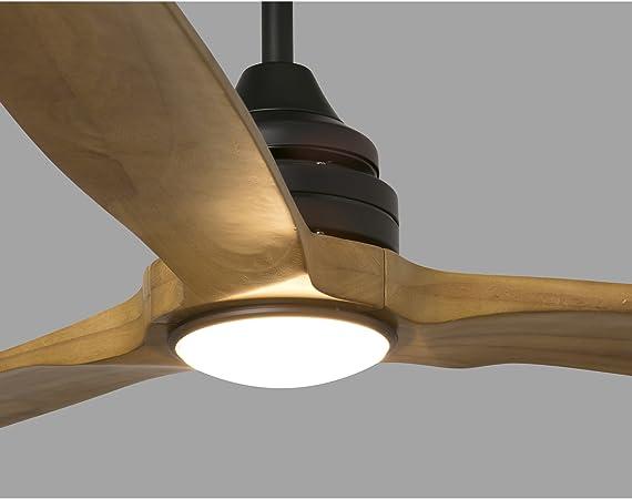 Faro Barcelona 33719 - ALO Ventilador de techo con aspas de madera con luz, color marron: Amazon.es: Bricolaje y herramientas