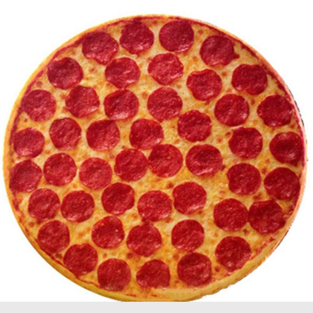DDGOD Pizza Cojines de Asiento Juego de 4 Redonda Tirar el ...