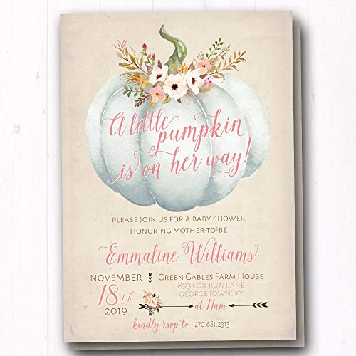amazon com pumpkin baby shower invitation white pumpkin baby
