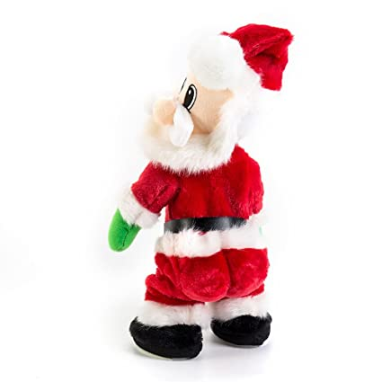 Christmas Toys.Christmas Santa Claus Toy Figure Twisted Hip Singing Dancing Moving Animated Santa Claus Electric Toys Gift Xmas Decorations