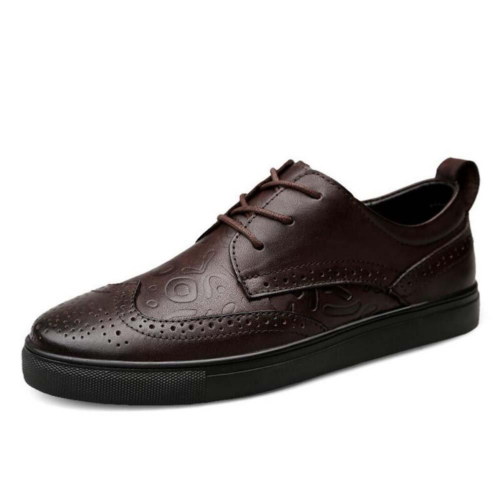 Zapatos Ocasionales de los Hombres Zapatos Respirables Tamaño Grande Británico Verano Nueva Moda 47 EU|Marrón