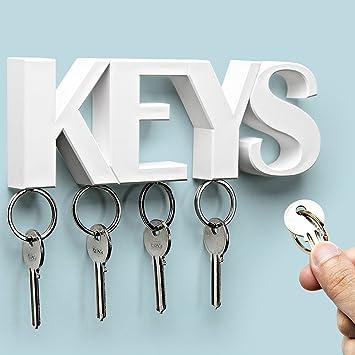 Amazon.com: Sansukjai White Key Holder, Wall Decor, Wall Hanging ...