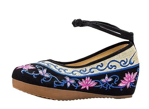 Lazutom Vintage stile cinese ricamo da donna, confortevole Casual Casual Casual   1f3d5c