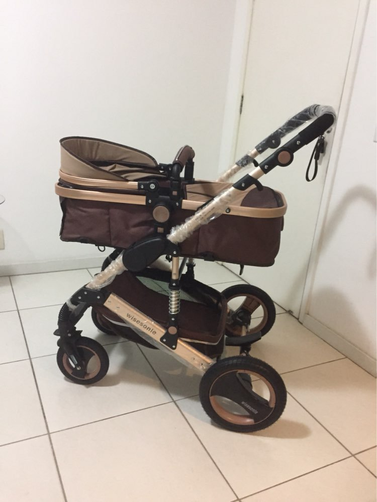 0--36 months baby stroller 2 in 1 stroller lie or damping folding light weight Two-way use four seasons (1)