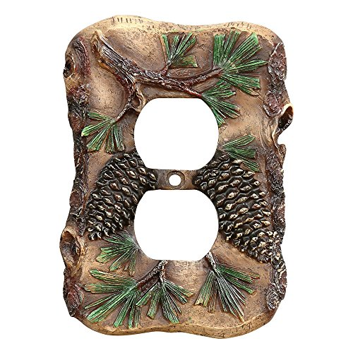 Rustic Switchplate Covers - Pinecone Rustic Outlet Cover - Wilderness Decor