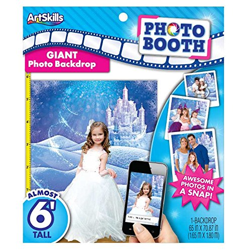 Photo Booth Giant Princess Castle Backdrop 6 feet tall (Winter Wonderland Backdrop)