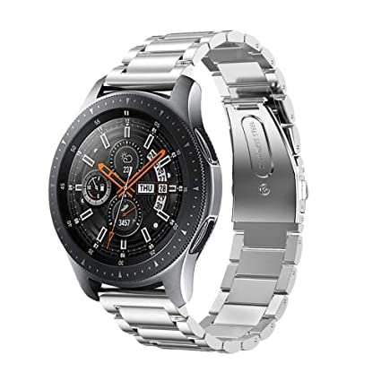 aspect esthétique bonne qualité styles de mode Kartice Compatible with Samsung Galaxy Watch (46mm) Bands 22mm Solid  Stainless Steel Metal Replacement Strap for Galaxy Watch (46mm) SM-R800  (Silver)