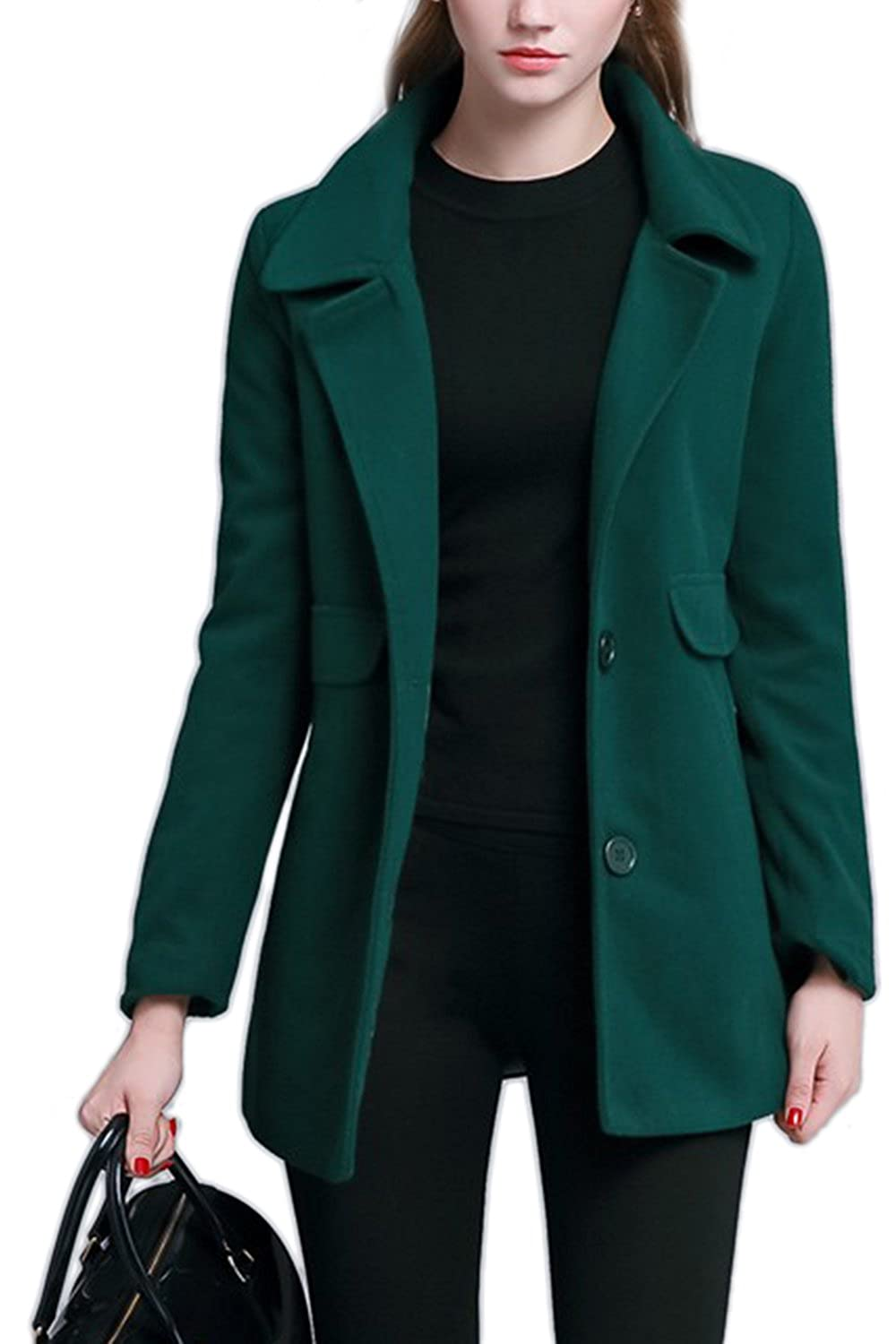 Women's Thicken Single Breasted Woolen Trenchcoat Outwear