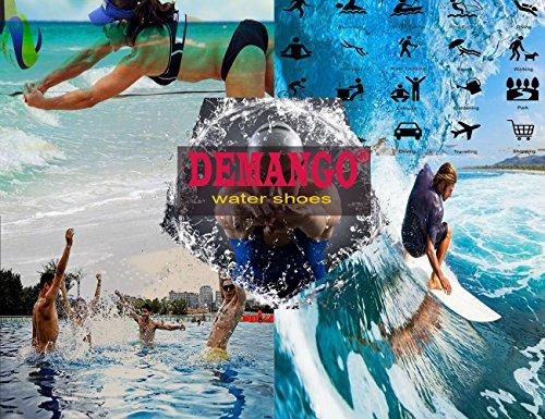 Demango Yoga Chaussures Pieds Nus À Sec-rapide Leau Sport Aqua Chaussures Nager Marche Lac Plage Blanc