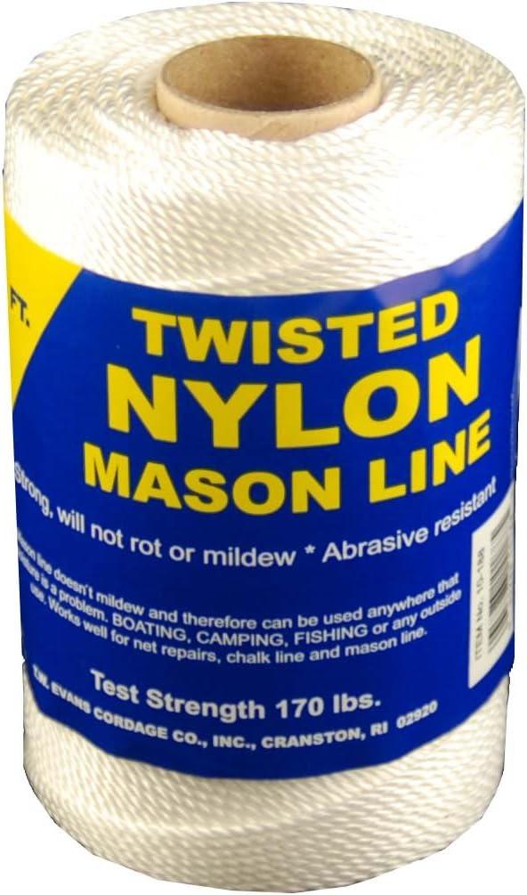 T.W Evans Cordage 10-244 Number-24 Twisted Nylon Mason Line Evans Cordage Co. 156-Feet T.W