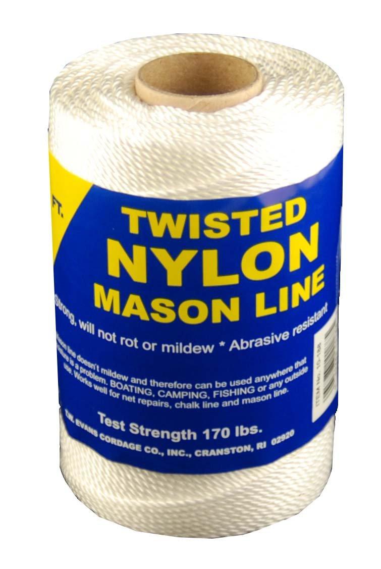 T.W . Evans Cordage 10-249 Number-24 Twisted Nylon Mason Line, 625-Feet