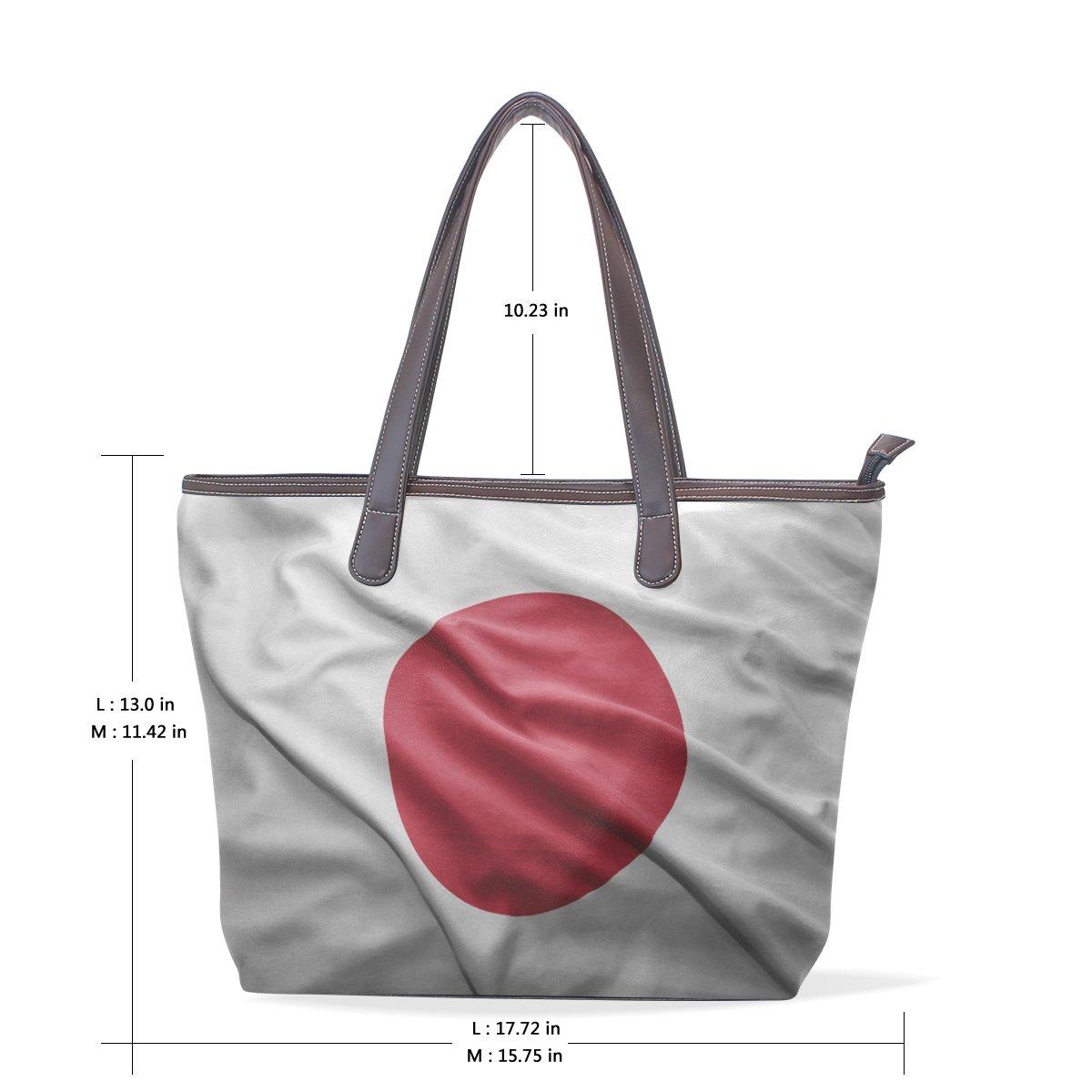Japan Flag Womens Fashion Large Shoulder Bag Handbag Tote Purse for Lady