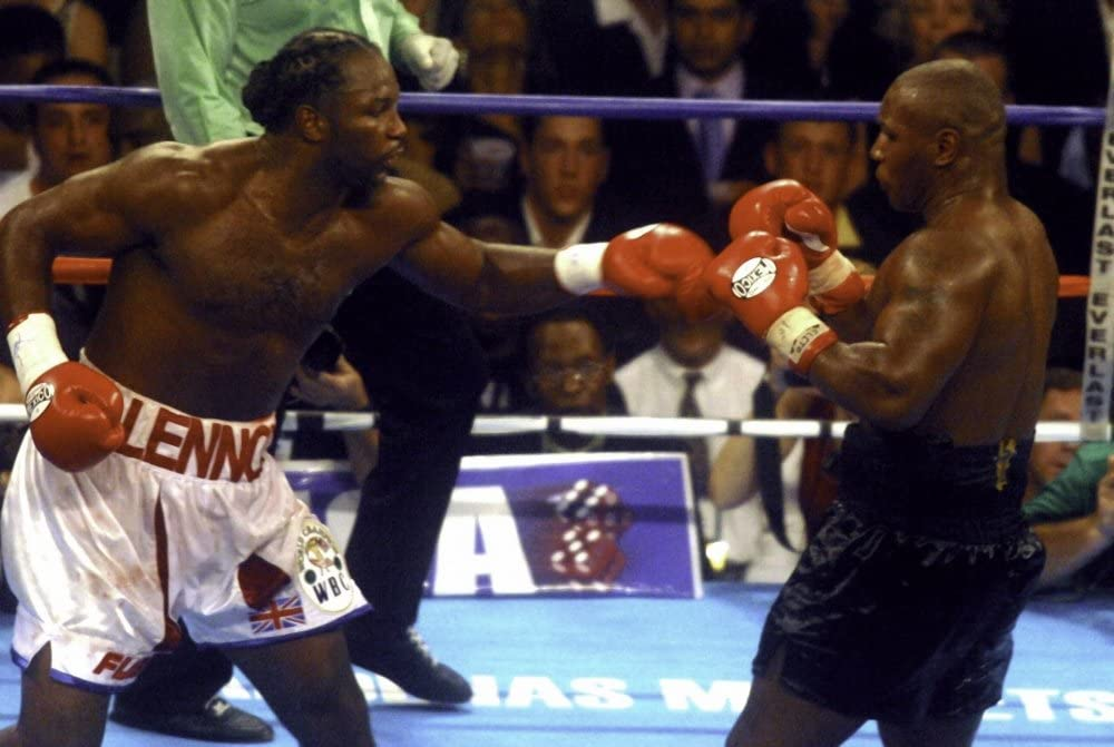 Boxing match between Mike Tyson and Lennox Lewis Photo Print 30 x 24