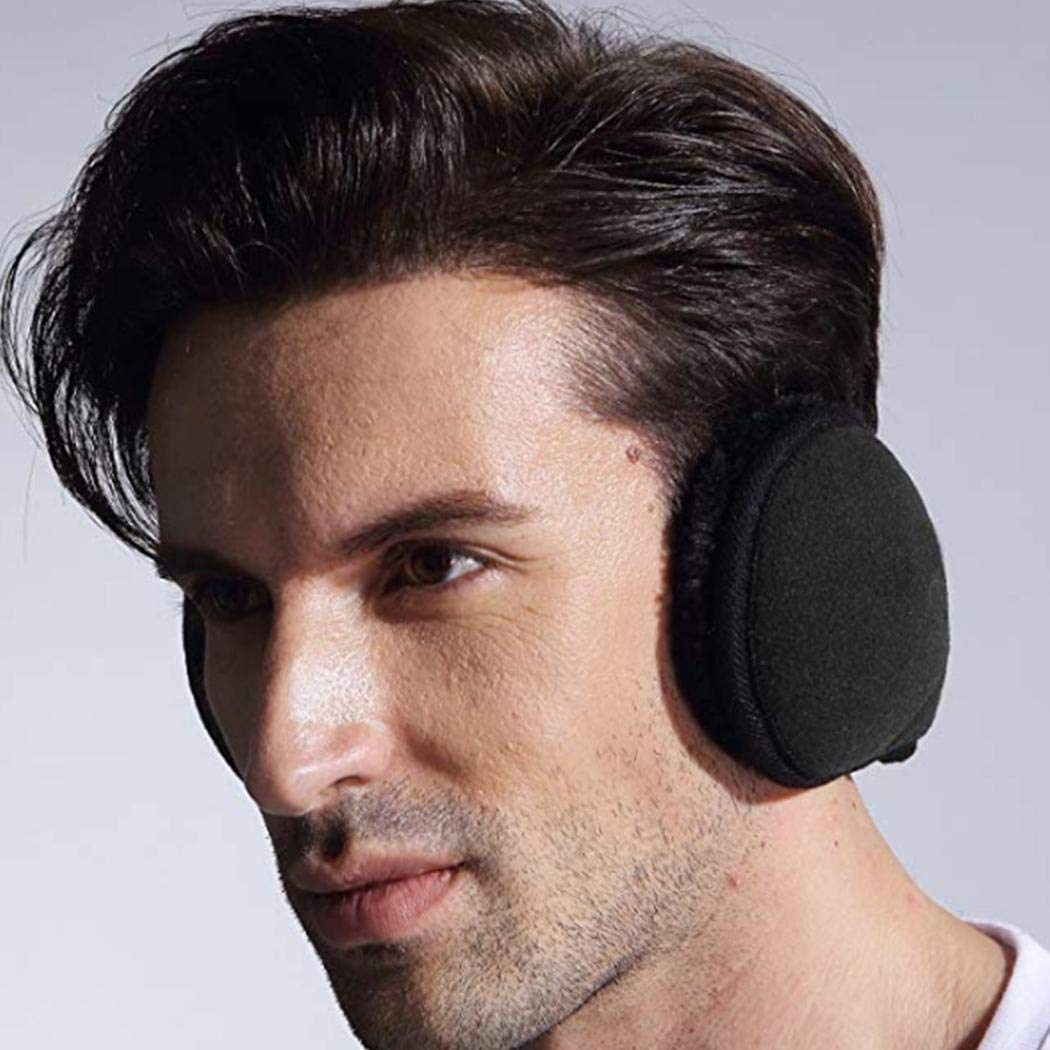 Halffle 1 Pcs Men Earmuffs, Foldable Ear Warmer Unisex, Thicken Ear Warmer Earmuffs, Classic Winter Outdoor Earmuffs by Halffle (Image #6)