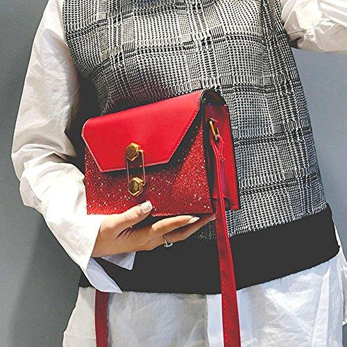 à épaule Bandoulière Rouge Party La Bag Crossbody Paillettes Brillantes Cabina Sac Messenger Sac Sac Femmes pour Fille Porté Main à PU twwnBqPfR