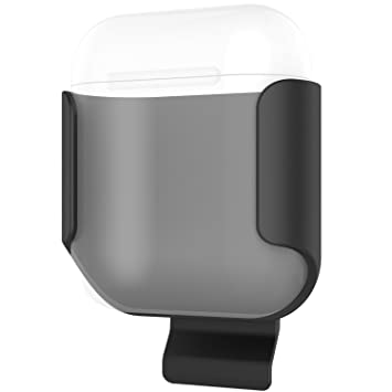 ProCase Apple AirPods Case, Exquisite Belt Clip Holster Ultra Slim  Shockproof Protective Shell Cover for Apple AirPods Charging Case –Black