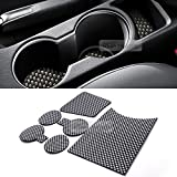 hyundai cup holder insert - KMPtrade Carbon Style Console Cup Holder Insert Tray Pad 6pcs for HYUNDAI 11-17 Veloster