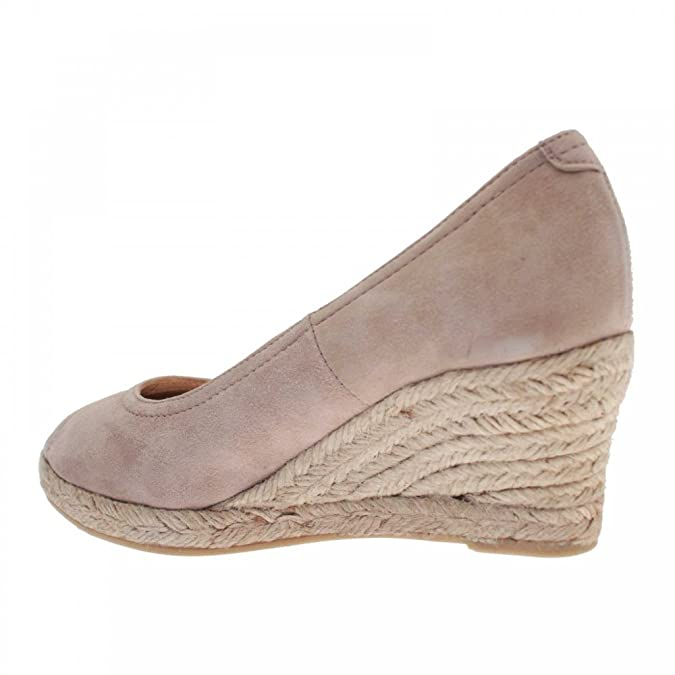 a485a5648ba9c Castell Women's Peep Toe Wedge Court Shoe 4 Beige: Amazon.co.uk: Shoes &  Bags