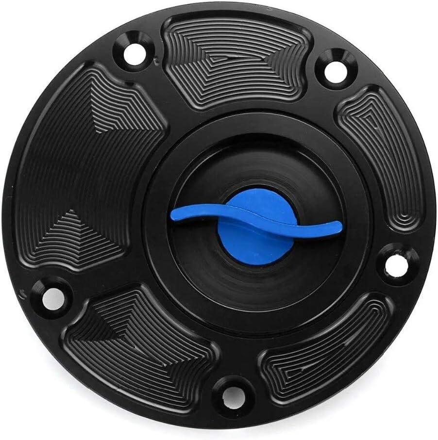 Azul-negro Tapon deposito rapido de copmeticion para circuito para Yamaha FZ1 FZ6 FZR YZF R1 R6 YSR50 Fazer