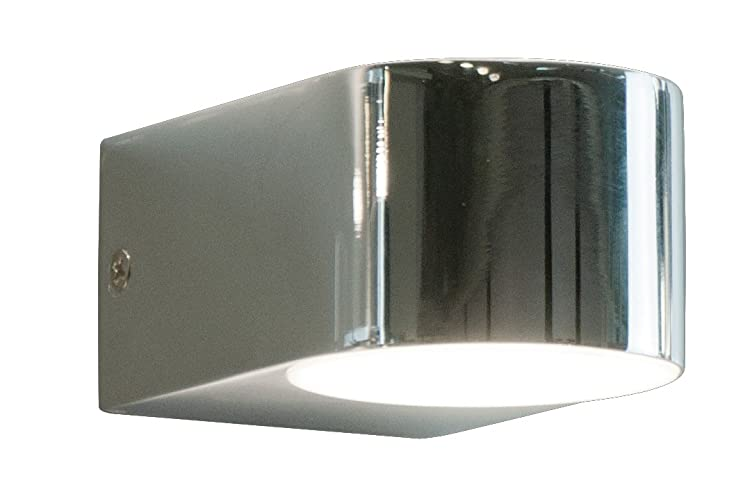 Wandlampe / Wandleuchte LED runde Form aus Edelstahl geeignet fuer ...