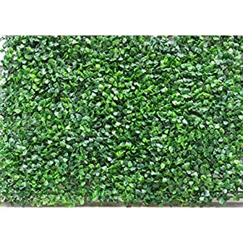 Artificial Box Wood Mat Greenery Panels Dark Green 15x23 Inches
