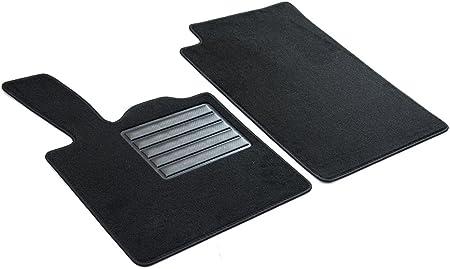 Set de 2 Tapis de Pieds Mossa Tapis de Sol Velours Tapis Automobiles 5902538789660 Noir