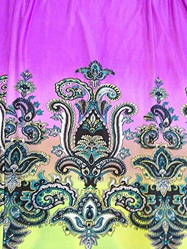 Free Shipping The Sisters Women Purple Blue Floral VNeck Kimono Long Maxi Dress L XL XXL 14 16 18