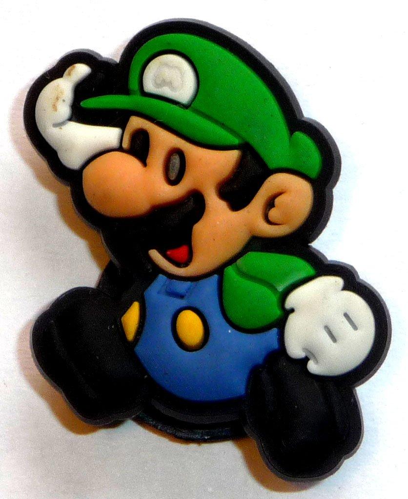 b4031cfd8 Luigi in super mario bros nintendo running jibbitz crocs hole bracelet shoe  charm everything else jpg