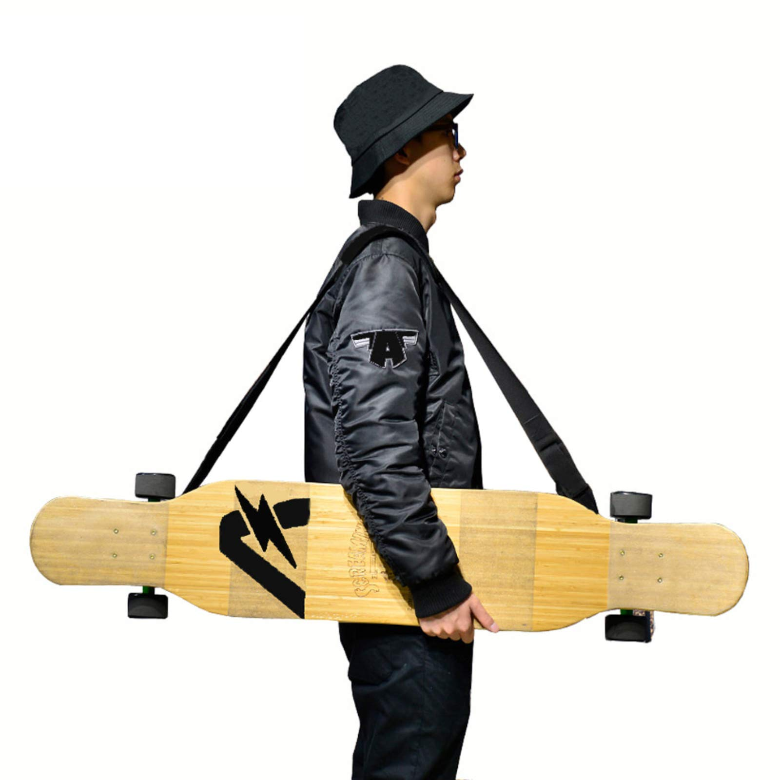 Portable Skateboarding Skateboard Cover Longboard Carrying Backpack Carry Bag DS