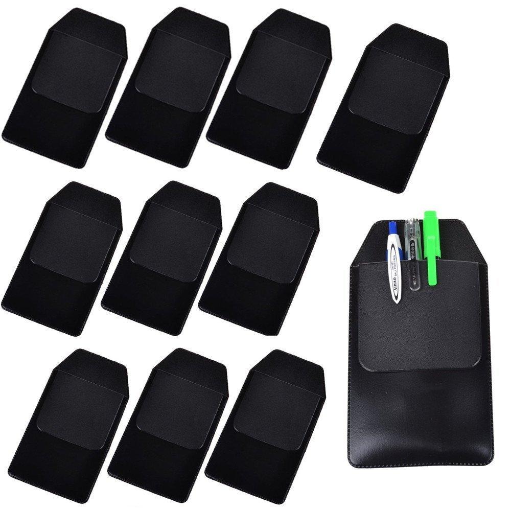 TEKEFT 8 Pcs Black Vinyl Pocket Protector for Pen Leaks