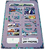 Forgetful Harry Designs Game Changing Kids Car Play Mat City for Coffee Tables and Activity Tables - Educational Map with Local City Roads and Landmarks (46.5''x30.5'')