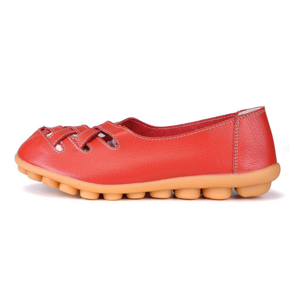 MXTGRUU Women's Casual Comfortable Walking Shoes with Criss Cross B07DJDZ72H 5 B(M) US|Red