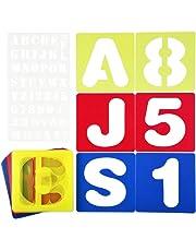 Cizen 37 Piezas Plantilla de Letras y Números, Alfabeto Plantillas de Juego Adecuado para el