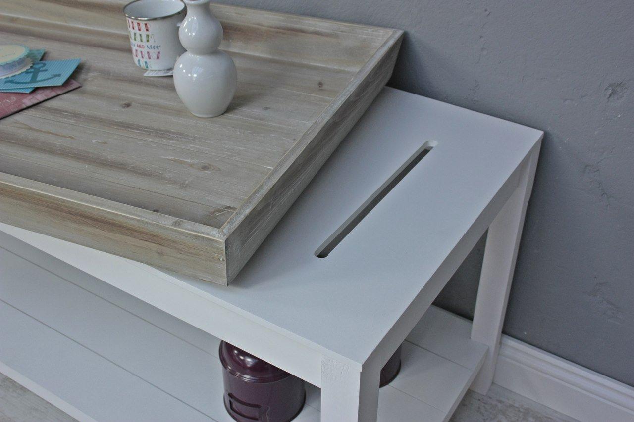 Couchtisch Braun Weiss ~ Couchtisch tisch beistelltisch weiß braun landhaus holztisch holz