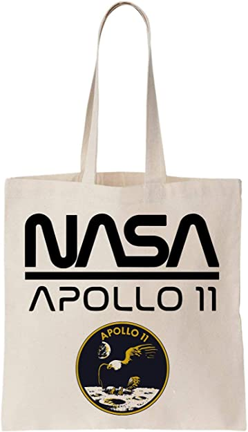 KRISSY Nasa Apollo 11 Anniversary Design Algodón Bag Tote Bag ...
