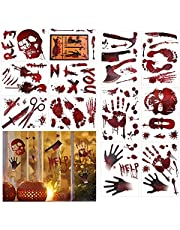 Halcyerdu 12 Pcs Halloween Bloody Stickers