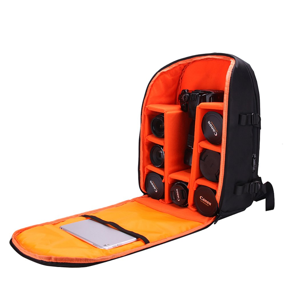 Father's Day Gift DSLR Camera Bag-Foldable, Waterproof & Stain Repellent Large Black