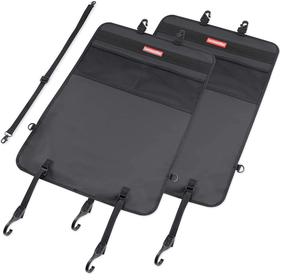 Protecci/ón del respaldo y organizador en un conjunto de 2 Protege sus asientos de coche de la suciedad