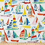 nautical outdoor fabric - Swavelle/Mill Creek Indoor/Outdoor Palavas Screen Carnival Fabric By The Yard