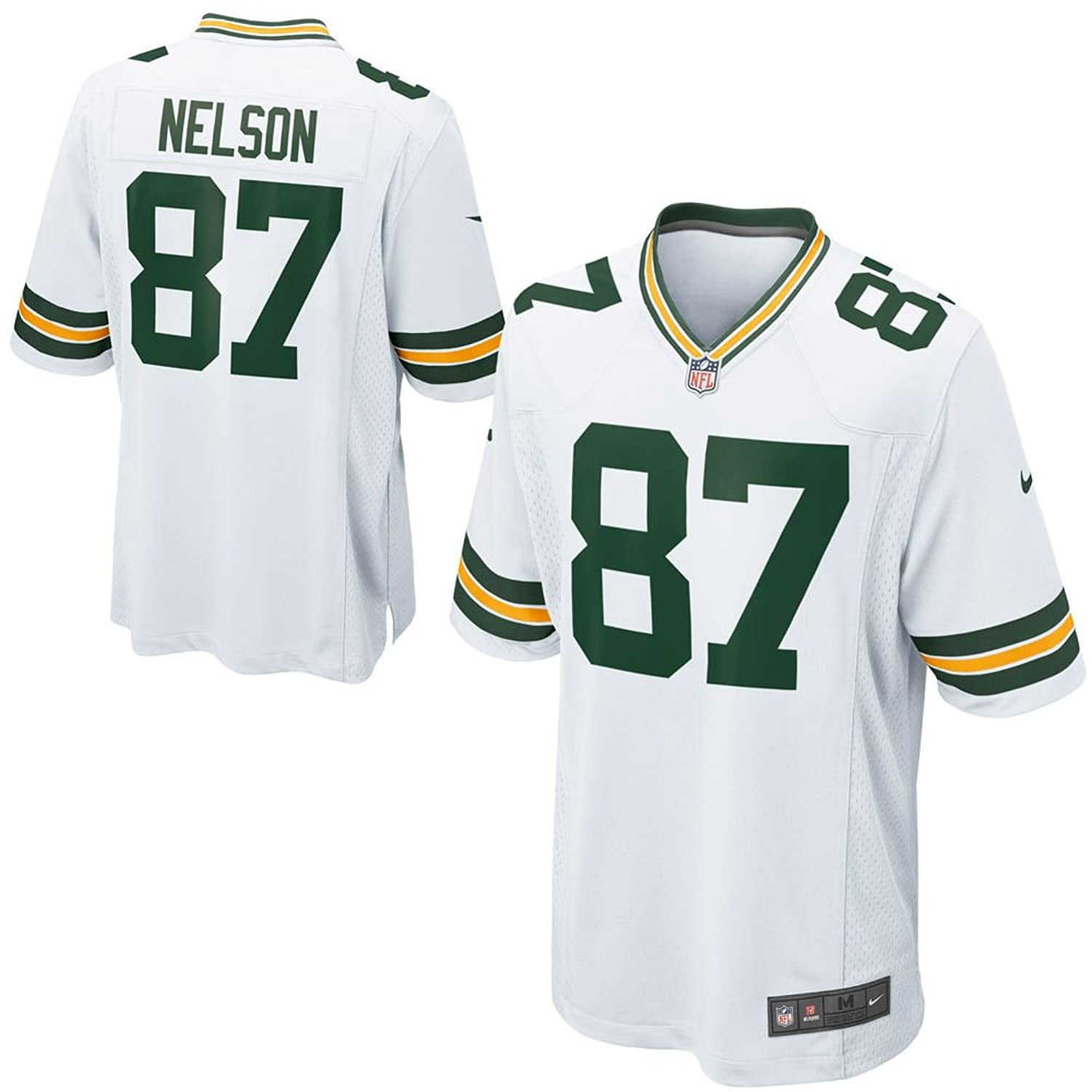 NIKE Jordy Nelson Green Bay Packers NFL Youth White Road on-Field Jersey cd7f8425f