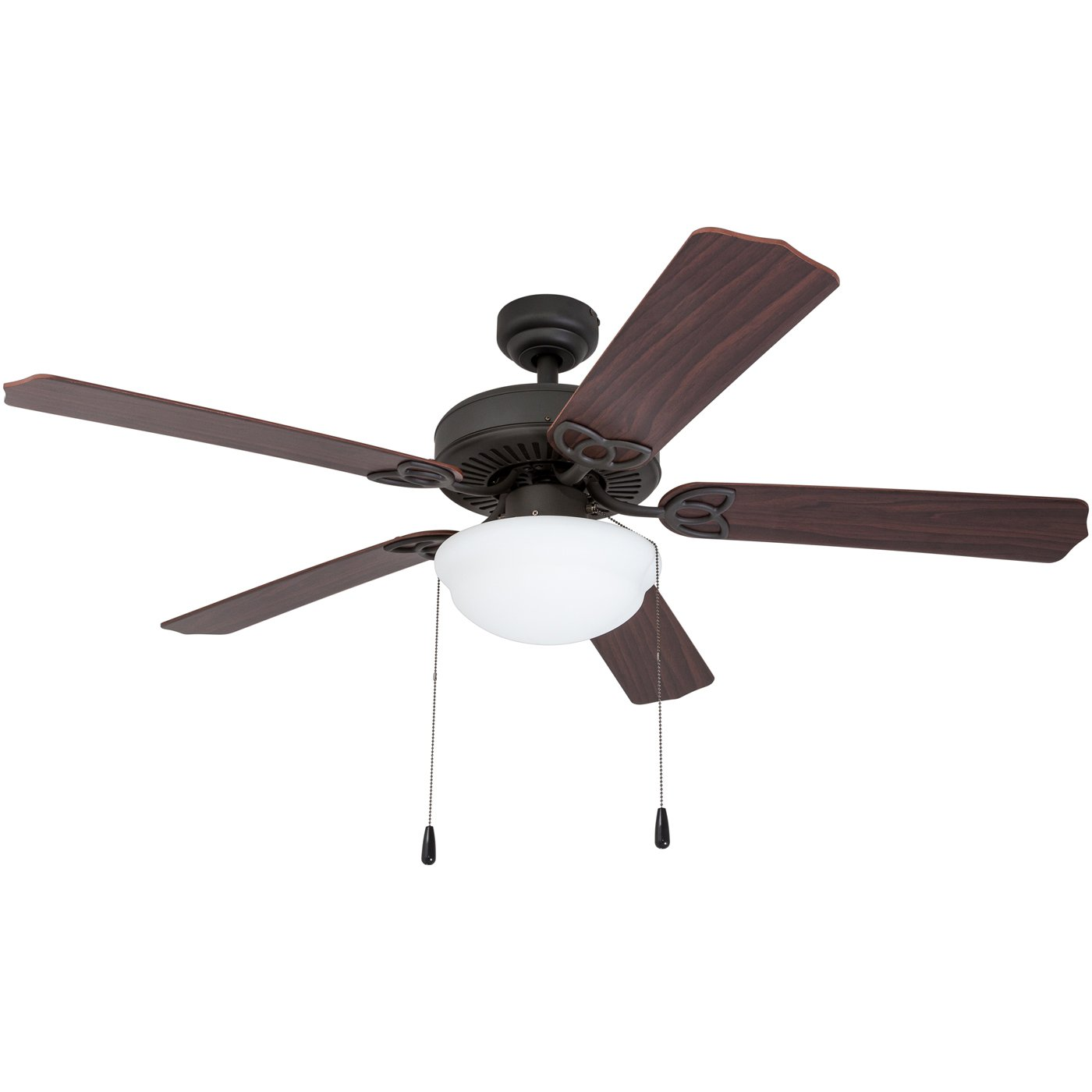 Prominence Home 80028-01 Dove Creek LED Ceiling Fan, Globe Light, Reversible Fan Blades, 52 inches, Bronze