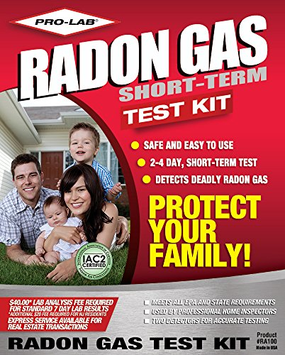 PRO-LAB Radon Gas Do It Yoursef Test Kit RA100