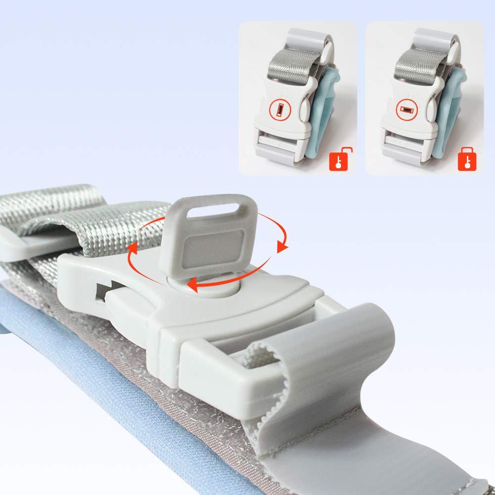 Actualizado con bloqueo de teclas LEHOO Anti Lost Wrist Link Enlace de mu/ñeca de seguridad para ni/ños peque/ños 1.5m Blue