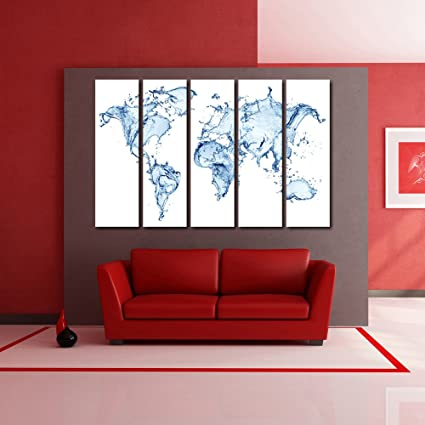 999store multiple frames wall for living room wall art panels with 999store multiple frames wall for living room wall art panels with frame printed world map painting gumiabroncs Choice Image