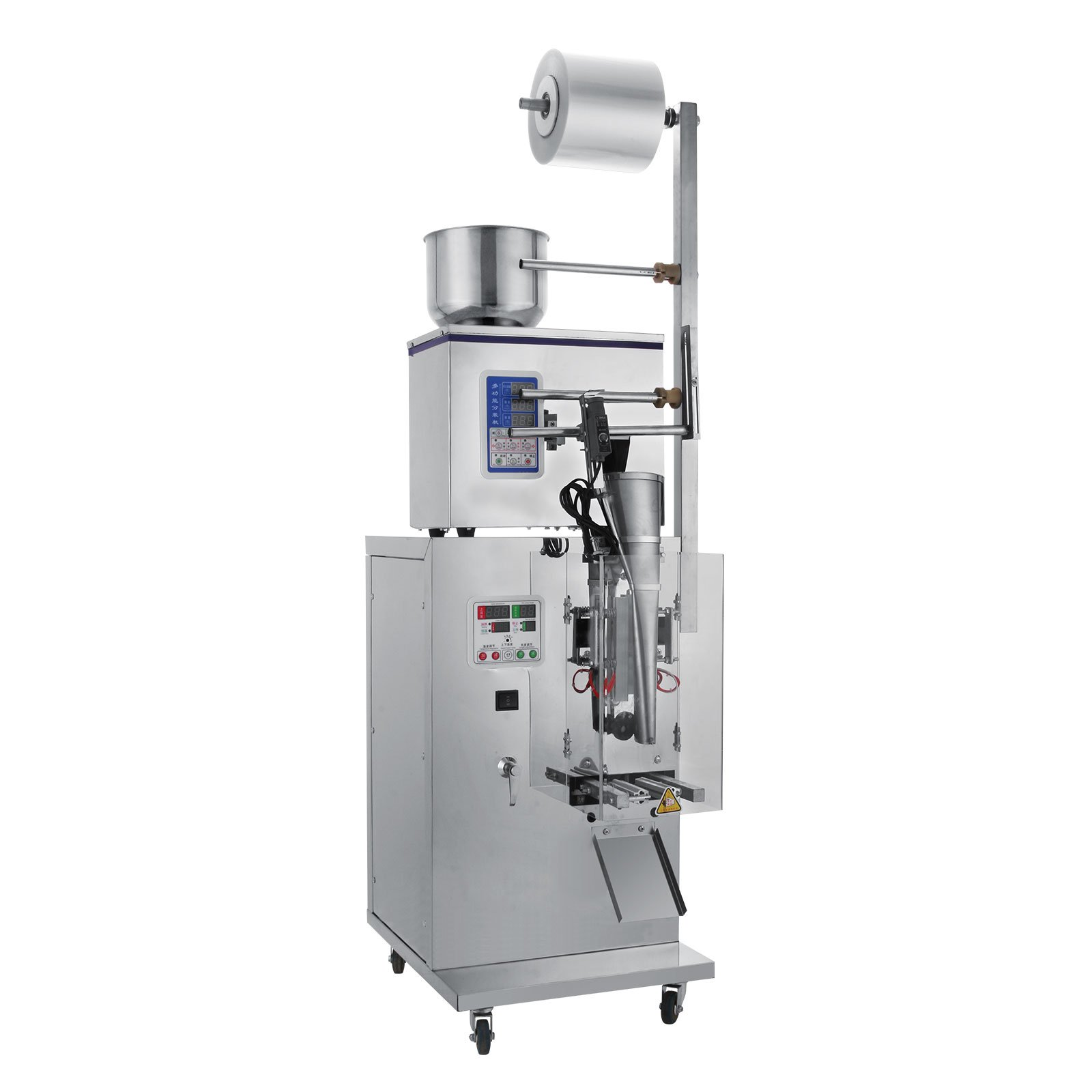 Happybuy Powder Filler Machine 2-50g Automatic Particle Weighing Filling Machine 240W Powder Filling Machine for Sealing Tea Seed Grain Heavy Duty Stainless Steel