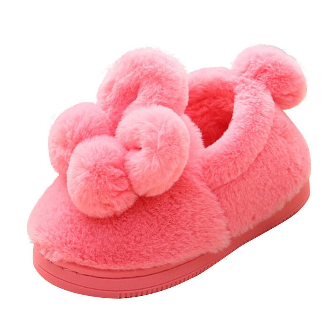 Newborn Baby Girl Soft Sole Crib Shoes Fluffy Fur Home Slippers Pram Sandals US