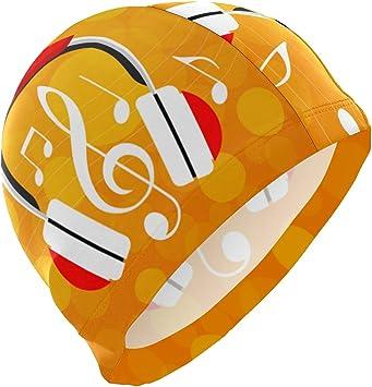 ALINLO - Gorro de natación con diseño de Notas Musicales ...