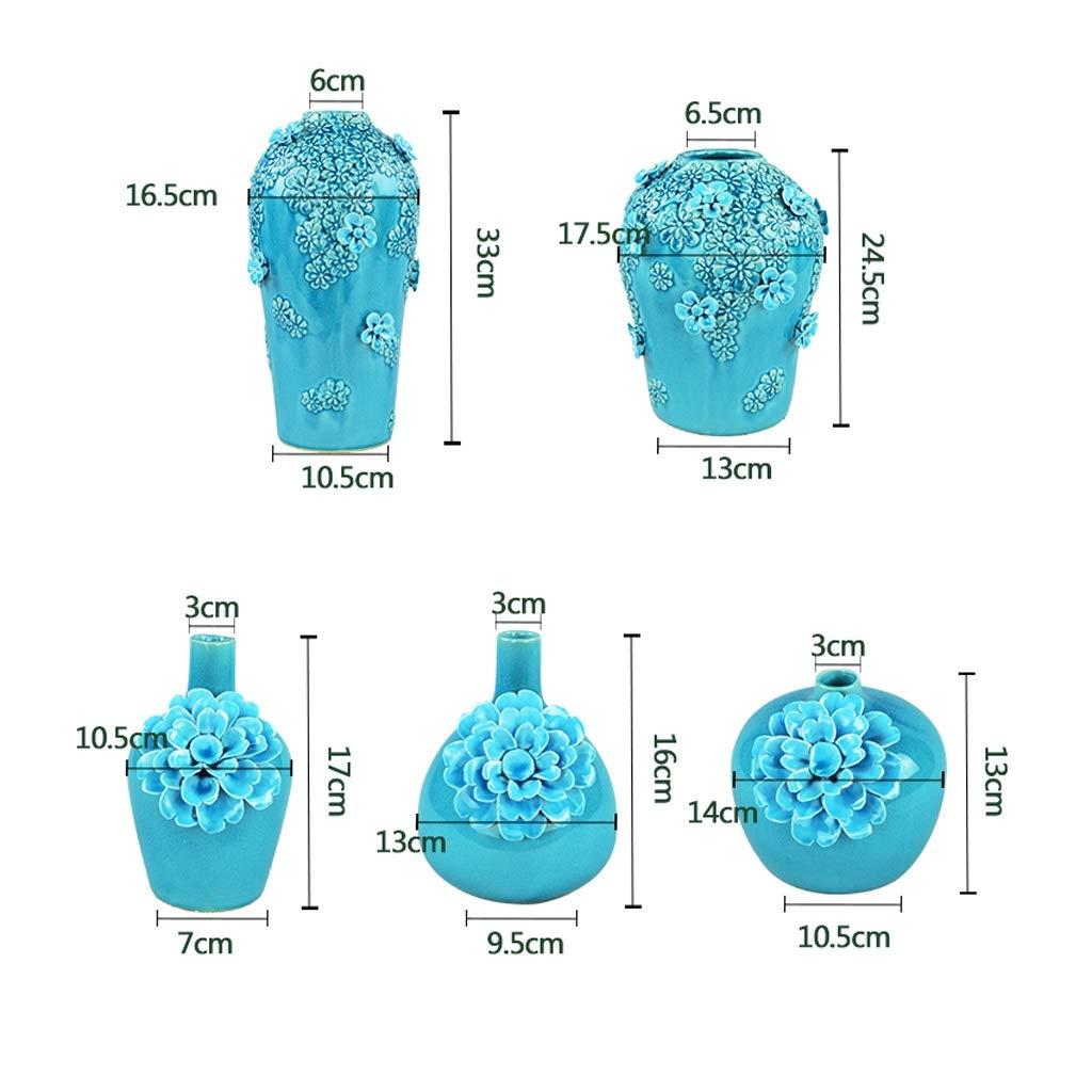 GAODUZI Vaso di Ceramica incrinato del Ghiaccio del Pizzico Creativo Decorazione Minimalista della Decorazione del Fiore della Stanza da Bagno Creativa (colore   B)