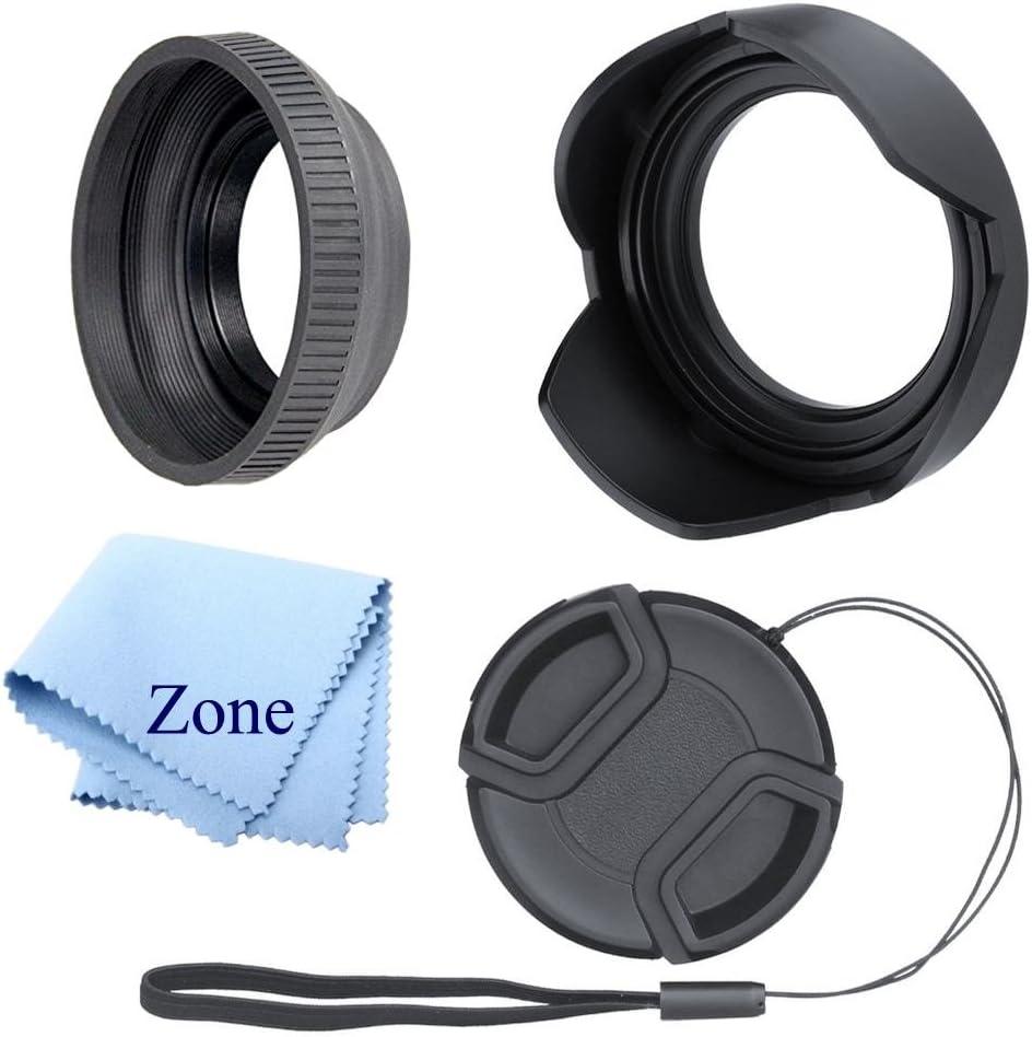 62mm Microfiber Cloth Lens Cap Center Pinch for Canon EOS 6D Mark II + Lens Cap