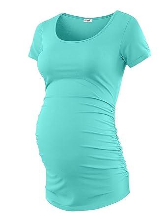 35e42d3ab0c03 Maternity Shirt Maternity Tank Tops Maternity Top Womens Pregnancy Shirts  Clothes Auqa Blue S
